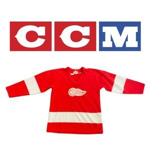 Vintage Maska Red Wings Jersey - Youth Large